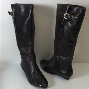 Jessica Simpson Boots Dark Brown Boots Leather New